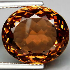 12.77 Ct. Natural Top Imperial Topaz Brazil Oval Facet Superior Unheated