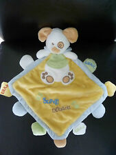 914- SUPER DOUDOU PLAT BABY NAT CHIEN jaune vert bleu EMPREINTES CRAK  ETAT NEUF