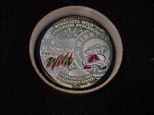 RARE Minnesota Wild vs Colorado Avalanche 2004 Collectors Series SGA Puck, MINT
