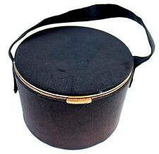 Vintage 1947 Lin Bren Rogers Patent Black Circle POCKET Barrel Case Retro Pin Up