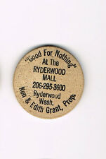Wooden Nickel Good For Nothing Ryderwood Mall Washington Old Bill Feist turns 40