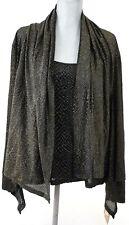 New ELLEN TRACY Open Cardigan & Tank Sweater - XL Midas Touch Black & Gold