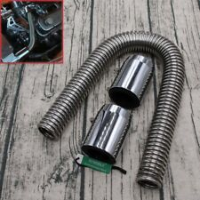 """Universal 24"""" Stainless Steel Radiator Flexible Coolant Water Hose Kit With Caps"""
