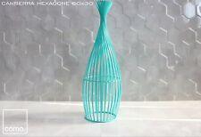 SAMPLE 3D Hexagon Ceramic High Gloss Cement Grey 60X30 Wall Tiles  £17.99/m2