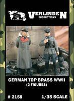 Verlinden 1:35 WWII German Top Brass - 2 Resin Figures Kit #2158