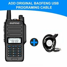 Bfuv9R+ Walkie Talkie 18W 9500mAh Programing Cable Two Way Radio Ip67 Waterproof