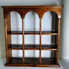 Ethan Allen Solid Wood Hanging Curio Wall Display Shelf 3 tier Teacup 23 by 24''