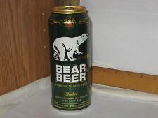 Bear Beer Premium Danish Beer Imported 1 pint 9 oz aluminum beer can top opened