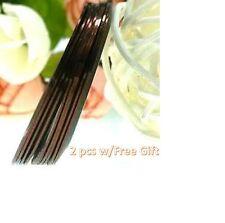 AB9: 2PCS COFFEE Rolls Striping Tape Line Nail Tips Sticker DIY w/Free Gift
