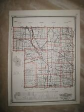ANTIQUE 1959 PORTAGE COUNTY WISCONSIN MAP HUNTING FISHING HIGHWAY ROAD NR