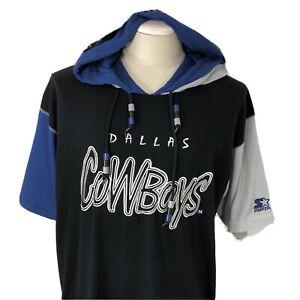 Vintage 90s STARTER Dallas Cowboys Short Sleeve Sweatshirt Men's Large Shirt NFL