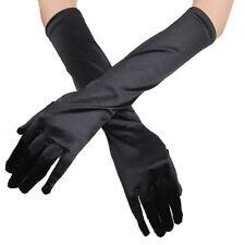 "Ladies Long 22"" Opera Evening Finger Gloves Satin Charleston Party Dress Prom"