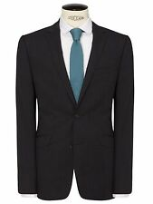 Kin By John Lewis Pinpoint Suit Jacket Charcoal Size 38R RRP £109 - BNWT