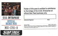 Star Trek Next Generation Bridge Crew Pass Plastic ID Card 1992 Antioch UNUSED
