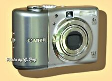CANON A1100 IS SILVER/GRAY-MECHANICALLY RECONDITIONED-VIEWFINDER-EASY TO HOLD