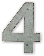 """4 """" NUMBERS METAL GALVANIZED 0-9 HOME DIY PERSONALIZE VINTAGE MAGNET new"""