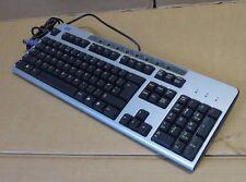 HP KB-0133 Negro Plata Teclado PS2 con cable QWERTY 323686-031