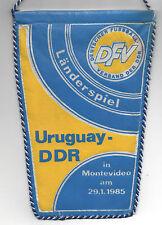 Original Wimpel    29.01.1985    URUGUAY - DDR  //  DFV Edition  !!  RARITÄT