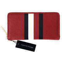 New TOMMY HILFIGER Signature Stripe Zip-Around Purse Wallet - Perfect Gift