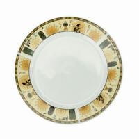 Lot de 6 Assiettes Plate En Porcelaine Ronde 24cm Plats De Service Blanc&Pharaon