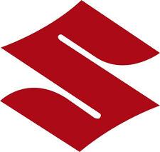 """2""""  Suzuki Logo Motorcycle Wheel Helmet Stickers GLOSS RED VINYL DECAL STICKER"""