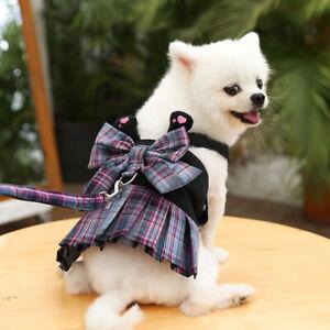 Pet Harness+ Leash Puppy Small Dog Cat Dress Training Lattice Vest Chest Strap #