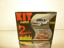 SOLIDO 75K (2 kits) BMW 3.0 CSL  - 1:43 - UNBUILT KIT IN SEALED BOX