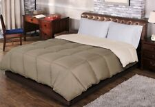 Twin/TwinXL Ivory & Taupe All Season Reversible Down Alternative Comforter