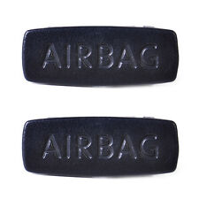 2pcs Car Pillar Airbag Clip Cover for VW Golf Mk6 Jetta Mk5 GTI CC Tiguan PASSAT Black