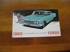 1960 Ford, A  Wonderful World of Fords, Full Line, Original Sales Brochure