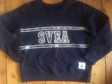 Svea Dark Blue Navy Sweater Silver Logo Swedish Size L (M)