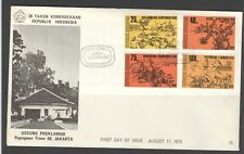 INDONESIA INDONESIË 1975 FDC E 16 BLANK BLANCO