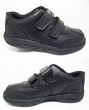 Boys TIMBERLAND Black Leather Shoes New 2-Strap Woodman Kids School Sale 6 - 2.5