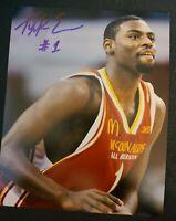 TYREKE EVANS SIGNED 8X10 PHOTO HS SHOT NBA PACERS KINGS C W/COA+PROOF RARE WOW