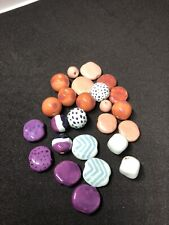 Kazuri Handmade Clay Beads From Africa 25 assorted colour and size beads