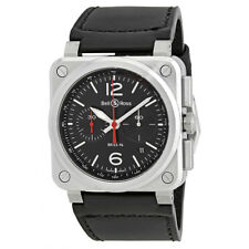 Bell and Ross Aviation Automatic Chronograph Mens Watch BR0394-BLC-ST-SCA