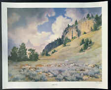Original Signed Color Lithograph By Billings Montana Artist Leroy Greene. 62/275