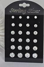 Echt 925 Sterling Silber Ohrringe Ohrstecker mit Zirkonia 4,5,6,7,8 mm