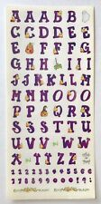 PURPLE HALLOWEEN ALPHABET THEMED SANDYLION 5X12 IN. STICKERS CANDY CORN GHOST