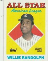 FREE SHIPPING-NRMINT-1988 Topps #387 Willie Randolph All-Star Yankees