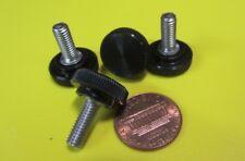 "Plastic Black Stainless Thumb Screw, 5/8"" Head Dia. x 10-32 x 1/2"" Length, 25 Pc"