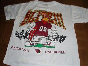 "1994 ARIZONA CARDINALS LOONEY TUNES SHIRT - FOGHORN LEGHORN -""AH, AH SAY..BLITZ!"