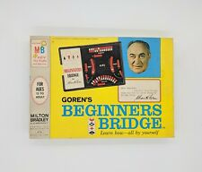 Vintage 1967  Goren's Beginners Bridge Teaching Card Game Tutor Milton Bradley