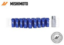MISHIMOTO BLUE ALUMINIUM LOCKING WHEEL LUG NUTS SET - M12x1.5 - ANODISED JDM