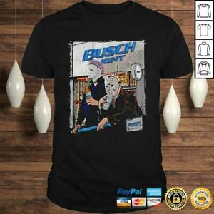 Myers And Jason Voorhees Busch Light T-Shirt S-5XL Gift Funny Tee