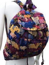 Ladies Girls Elephant Design Backpack Rucksack Hippie Boho Shoulder School Bag