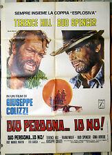 manifesto 2F film DIO PERDONA... IO NO ! Terence Hill Bud Spencer