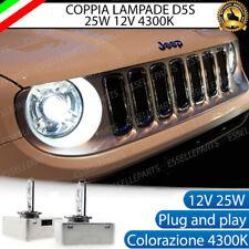2 LAMPADE XENON D5S 4300K 25W SPECIFICHE JEEP RENEGADE BIANCO PLUG AND PLAY