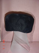 ORIGINAL 1977 BLACK FELT HAT WITH NET