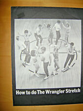 Vintage Sheet Music 1964-The Wrangler Stretch-Dance-Music & Instructions-Jeans-